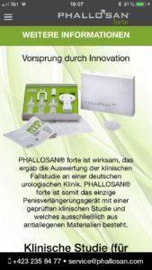 Phallosan Forte App Weitere Informationen